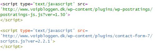 Her er JavaScript-kildekoden fra mit site